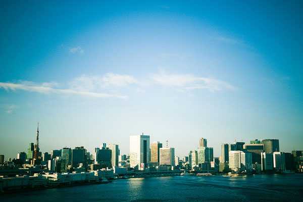 レインボーブリッジから見た東京