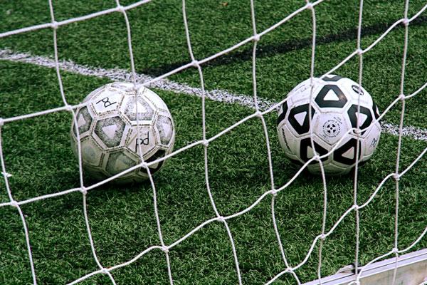2 つのサッカーボール